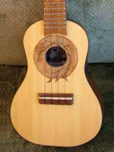 Grafted Walnut and Cedar Top Ukulele by Hound Sound Ukuleles afreiki@yahoo.com  USA