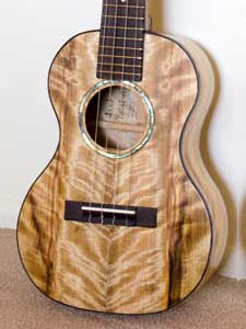 Figured Myrtlewood Tenor  Ukulele by Jack Katchur artisticdad@yahoo.com USA