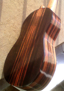 Concert Size Redwood and Macassar Ebony Ukulele by Jacques Falcou, USA