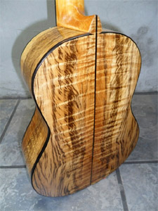 Myrtlewood Tenor Ukulele by www.stansellguitars.com Les Stansell USA