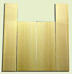 """CDUS11051 - Port Orford Cedar Baritone size Ukulele Back and Side Set, Fine Grain Salvaged Old Growth, Excellent Stiffness and Tap Tone, Excellent Luthier Tonewood.  2 panels each .20"""" x 6"""" x 15.75"""" and 2 panels each .20"""" x 4"""" x 22"""" S1S"""
