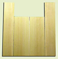 """CDUS11052 - Port Orford Cedar Baritone size Ukulele Back and Side Set, Fine Grain Salvaged Old Growth, Excellent Stiffness and Tap Tone, Excellent Luthier Tonewood.  2 panels each .20"""" x 6"""" x 15.75"""" and 2 panels each .20"""" x 4"""" x 22"""" S1S"""