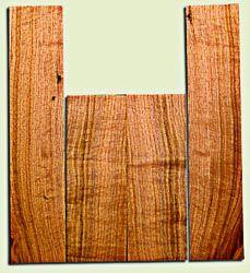 "BNUS11561 - Curly Butternut Concert Ukulele Back and Side Set, Medium Figure, Excellent Color, Amazing Resonance and Bass Response, Scarce Ukulele Tonewood.  2 panels each  .18"" x 4.25"" x 12"" and 2 panels each .18"" x 4"" x 18""  S1S"