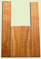 "BNUS11564 - Curly Butternut Concert Ukulele Back and Side Set, Medium Figure, Excellent Color, Amazing Resonance and Bass Response, Scarce Ukulele Tonewood.  2 panels each  .18"" x 4.25"" x 12"" and 2 panels each .18"" x 3.25"" x 21.5""  S1S"