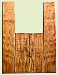 """BNUS11568 - Curly Butternut Concert Ukulele Back and Side Set, Medium Figure, Excellent Color, Amazing Resonance and Bass Response, Unusual Ukulele Tonewood.  2 panels each  .18"""" x 4"""" x 12"""" and 2 panels each .18"""" x 3.75"""" x 22""""  S1S"""