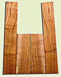 """BNUS11570 - Curly Butternut Concert Ukulele Back and Side Set, Medium Figure, Excellent Color, Amazing Resonance and Bass Response, Unusual Ukulele Tonewood.  2 panels each  .18"""" x 4"""" x 12"""" and 2 panels each .18"""" x 3.75"""" x 22""""  S1S"""