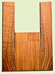 """BNUS11573 - Curly Butternut Concert size Ukulele Back and Side Set, Medium Figure, Excellent Color, Amazing Resonance and Bass Response, Unusual Ukulele Tonewood.  2 panels each  .18"""" x 4"""" x 12"""" and 2 panels each .18"""" x 3.75"""" x 22""""  S1S"""
