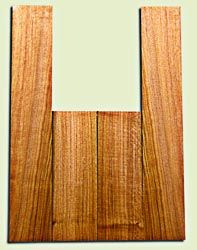 """BNUS11576 - Curly Butternut Concert size Ukulele Back and Side Set, Medium Figure, Excellent Color, Amazing Resonance and Bass Response, Unusual Ukulele Tonewood.  2 panels each  .18"""" x 4"""" x 12"""" and 2 panels each .18"""" x 3.75"""" x 22""""  S1S"""