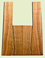 """BNUS11579 - Curly Butternut Concert size Ukulele Back and Side Set, Medium Figure, Excellent Color, Amazing Resonance and Bass Response, Unusual Ukulele Tonewood.  2 panels each  .18"""" x 4"""" x 12"""" and 2 panels each .18"""" x 3.75"""" x 22""""  S1S"""