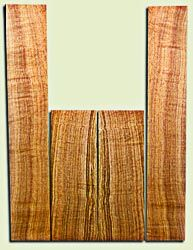 """BNUS11580 - Curly Butternut Concert size Ukulele Back and Side Set, Medium Figure, Excellent Color, Amazing Resonance and Bass Response, Unusual Ukulele Tonewood.  2 panels each  .18"""" x 4"""" x 12"""" and 2 panels each .18"""" x 3.75"""" x 22""""  S1S"""