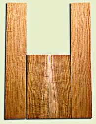 """BNUS11582 - Curly Butternut Concert size Ukulele Back and Side Set, Medium Figure, Excellent Color, Amazing Resonance and Bass Response, Unusual Ukulele Tonewood.  2 panels each  .18"""" x 4"""" x 12"""" and 2 panels each .18"""" x 3.75"""" x 22""""  S1S"""
