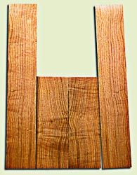 """BNUS11583 - Curly Butternut Concert size Ukulele Back and Side Set, Medium Figure, Excellent Color, Amazing Resonance and Bass Response, Unusual Ukulele Tonewood.  2 panels each  .18"""" x 4"""" x 12"""" and 2 panels each .18"""" x 3.75"""" x 22""""  S1S"""