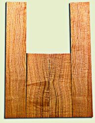 """BNUS11584 - Curly Butternut Concert size Ukulele Back and Side Set, Medium Figure, Excellent Color, Amazing Resonance and Bass Response, Unusual Ukulele Tonewood.  2 panels each  .18"""" x 4"""" x 12"""" and 2 panels each .18"""" x 3.75"""" x 22""""  S1S"""