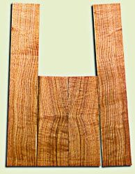"""BNUS11585 - Curly Butternut Concert size Ukulele Back and Side Set, Medium Figure, Excellent Color, Amazing Resonance and Bass Response, Unusual Ukulele Tonewood.  2 panels each  .18"""" x 4"""" x 12"""" and 2 panels each .18"""" x 3.75"""" x 22""""  S1S"""