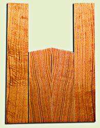 "BNUS11595 - Curly Butternut Concert size Ukulele Back and Side Set, Medium Figure, Excellent Color, Amazing Resonance and Bass Response, Unique Ukulele Tonewood.  2 panels each  .18"" x 4"" x 13"" and 2 panels each .18"" x 3.75"" x 22""  S1S"