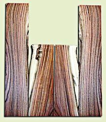 """PIUS11940 -  Pistachio Soprano Ukulele Back and Side Set, Excellent Colors, Very Rare and Resonant Tonewood. Sanded both sides.  2 panels each .20"""" x 4"""" x 12.5"""" and 2 panels each .19"""" x 3.75"""" x 19.25"""""""