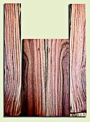 """PIUS11945 -  Pistachio Soprano Ukulele Back and Side Set, Excellent Colors, Very Rare and Resonant Tonewood. Sanded both sides.  2 panels each .18"""" x 3.75"""" x 12.75"""" and 2 panels each .18"""" x 2.6"""" x 18.5"""""""
