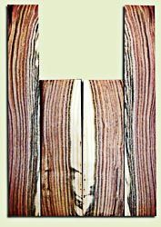 """PIUS11950 -  Pistachio Soprano Ukulele Back and Side Set, Excellent Colors, Very Rare and Resonant Tonewood. Sanded both sides.  2 panels each .17"""" x 3.5"""" x 11.5"""" and 2 panels each .17"""" x 2.6"""" x 18"""""""