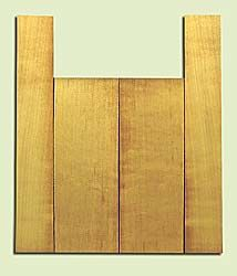 """SSUS16301 - Sitka Spruce, Baritone Ukulele Back & Side Set, Salvaged Old Growth, Excellent Color, OutstandingUkulele Tonewood, 2 panels each 0.18"""" x 6"""" X 16"""", S1S, and 2 panels each 0.18"""" x 3.5"""" X 21.5"""", S2S"""