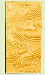 """DFUHS16874 - Curly Flatsawn Douglas Fir, Ukulele Headstock Plate, Air Dried, Very Good Color & Curl, Adds Pazzazz, Multiples Available, each 0.15"""" x 3.5"""" X 7"""""""