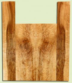 """MAUS31723 - Rock Maple, Baritone Ukulele Back & Side Set, Med. to Fine Grain, Excellent Color, GreatUkulele Wood, Flat Sawn, 2 panels each 0.14"""" x 5.5"""" X 15.75"""", S2S, and 2 panels each 0.14"""" x 3.5"""" X 21.75"""", S2S"""