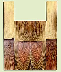 """PIUS40860 - Pistachio, Baritone Ukulele Back & Side Set, Salvaged from Commercial Grove, Excellent Color, RareUkulele Wood, Tight fit for Baritone, 2 panels each 0.15"""" x 5"""" X 15.75"""", S2S, and 2 panels each 0.15"""" x 3.375"""" X 22"""", S2S"""