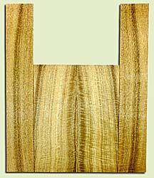 """MYUS41384 - Myrtlewood, Tenor Ukulele Back & Side Set, Med. to Fine Grain, Excellent Color& Curl, GreatUkulele Wood, 2 panels each 0.17"""" x 5.375"""" X 14"""", S2S, and 2 panels each 0.17"""" x 3.5"""" X 21.5"""", S2S"""