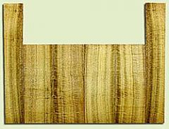 """MYUS41394 - Myrtlewood, Baritone or Tenor Ukulele Top, Back & Side Set, Med. to Fine Grain, Excellent Color& Curl, GreatUkulele Wood, 6 pieces, 4 panels each 0.17"""" x 5.75"""" X 14.25"""", 2S2, and 2 panels each 0.17"""" x 3.5"""" X 21.5"""", 2S2"""