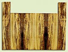 """MYUS41408 - Myrtlewood, Tenor Ukulele Top, Back & Side Set, Med. to Fine Grain, Excellent Color& Curl, GreatUkulele Wood, 6 pieces, 4 panels each 0.17"""" x 4.875"""" X 15.5"""", 2S2, and 2 panels each 0.17"""" x 3.5"""" X 20.25"""", 2S2"""