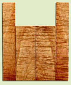 """MAUS41419 - Big Leaf Maple, Baritone or Tenor Ukulele Back & Side Set, Med. to Fine Grain, Excellent Color& Curl, GreatUkulele Wood, 2 panels each 0.16"""" x 5.25"""" X 14.75"""", S2S, and 2 panels each 0.16"""" x 3.5"""" X 21"""", S2S"""