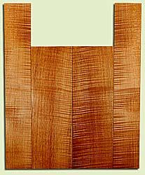"""MAUS41705 - Big Leaf Maple, Baritone or Tenor Ukulele Back & Side Set, Med. to Fine Grain, Excellent Color& Curl, Amazing Ukulele Wood, 2 panels each 0.17"""" x 5.25"""" X 16"""", S2S, and 2 panels each 0.17"""" x 3.5"""" X 21.5"""", S2S"""