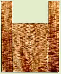 """MAUS41712 - Big Leaf Maple, Baritone or Tenor Ukulele Back & Side Set, Med. to Fine Grain, Excellent Color& Curl, Amazing Ukulele Wood, 2 panels each 0.15"""" x 5.5"""" X 15.5"""", S2S, and 2 panels each 0.13"""" x 3.5"""" X 22.5"""", S2S"""