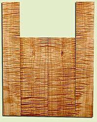 "MAUS41715 - Big Leaf Maple, Tenor Ukulele Back & Side Set, Med. to Fine Grain, Excellent Color& Curl, Amazing Ukulele Wood, 2 panels each 0.17"" x 5.25"" X 15.5"", S2S, and 2 panels each 0.17"" x 3.5"" X 22.5"", S2S"