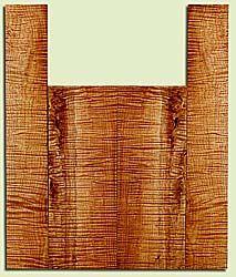 "MAUS41725 - Big Leaf Maple, Tenor Ukulele Back & Side Set, Med. to Fine Grain, Excellent Color& Curl, Amazing Ukulele Wood, 2 panels each 0.15"" x 5.5"" X 15"", S2S, and 2 panels each 0.15"" x 3.5"" X 21.625"", S2S"