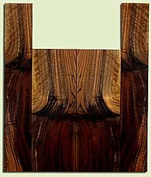 """WAUS41785 - Claro Walnut, Baritone or Tenor Ukulele Back & Side Set, Salvaged from Commercial Grove, Excellent Color& Curl, Amazing Ukulele Wood, 2 panels each 0.18"""" x 5.5"""" X 15.625"""", S2S, and 2 panels each 0.18"""" x 3.5"""" X 21.5"""", S2S"""