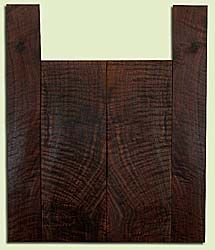 """WAUS41789 - Claro Walnut, Baritone or Tenor Ukulele Back & Side Set, Salvaged from Commercial Grove, Excellent Color& Curl, Amazing Ukulele Wood, 2 panels each 0.17"""" x 5.875"""" X 16.625"""", S2S, and 2 panels each 0.14"""" x 3.25"""" X 22"""", S2S"""