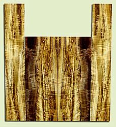"""MYUS41803 - Myrtlewood, Baritone or Tenor Ukulele Back & Side Set, Med. to Fine Grain, Excellent Color& Curl, Amazing Ukulele Wood, 2 panels each 0.17"""" x 5.5"""" X 14.75"""", S2S, and 2 panels each 0.17"""" x 3.5"""" X 20.5"""", S2S"""