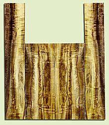 "MYUS41815 - Myrtlewood, Tenor Ukulele Back & Side Set, Med. to Fine Grain, Excellent Color& Curl, Amazing Ukulele Wood, 2 panels each 0.16"" x 5.125"" X 13.375"", S2S, and 2 panels each 0.15"" x 3.5"" X 20.25"", S2S"