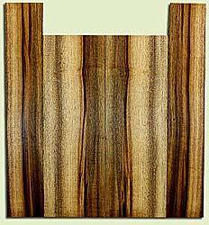 "MYUS41817 - Myrtlewood, Tenor Ukulele Back & Side Set, Med. to Fine Grain, Excellent Color& Curl, Amazing Ukulele Wood, 2 panels each 0.17"" x 5.5"" X 16.375"", S2S, and 2 panels each 0.17"" x 3.5"" X 19.25"", S2S"