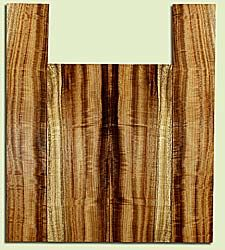 "MYUS41823 - Myrtlewood, Tenor Ukulele Back & Side Set, Med. to Fine Grain, Excellent Color& Curl, Amazing Ukulele Wood, 2 panels each 0.16"" x 5.25"" X 15.125"", S2S, and 2 panels each 0.16"" x 3.5"" X 20.375"", S2S"