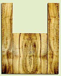 "MYUS41824 - Myrtlewood, Tenor Ukulele Back & Side Set, Med. to Fine Grain, Excellent Color& Curl, Amazing Ukulele Wood, 2 panels each 0.18"" x 5.5"" X 13.125"", S2S, and 2 panels each 0.18"" x 3.5"" X 22.75"", S2S"