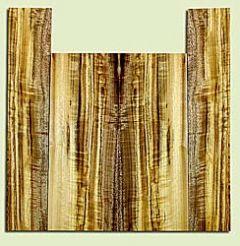 "MYUS41829 - Myrtlewood, Tenor Ukulele Back & Side Set, Med. to Fine Grain, Excellent Color& Curl, Amazing Ukulele Wood, 2 panels each 0.18"" x 5.5"" X 14.75"", S2S, and 2 panels each 0.18"" x 3.5"" X 18.375"", S2S"