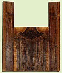 """WAUS42246 - Claro Walnut, Baritone or Tenor Ukulele Back & Side Set, Salvaged from Commercial Grove, Excellent Color& Astounding Figure, Eco-FriendlyUkulele Wood, 2 panels each 0.17"""" x 5.5"""" X 14.375"""", S2S, and 2 panels each 0.18"""" x 3.625"""" X 22.625"""", S2S"""