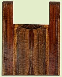 """WAUS42247 - Claro Walnut, Baritone or Tenor Ukulele Back & Side Set, Salvaged from Commercial Grove, Excellent Color& Astounding Figure, Eco-FriendlyUkulele Wood, 2 panels each 0.18"""" x 5.625"""" X 16"""", S2S, and 2 panels each 0.18"""" x 3.5"""" X 23.5"""", S2S"""