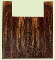 """WAUS42249 - Claro Walnut, Baritone or Tenor Ukulele Back & Side Set, Salvaged from Commercial Grove, Excellent Color& Astounding Figure, Eco-FriendlyUkulele Wood, 2 panels each 0.17"""" x 5.75"""" X 15.5"""", S2S, and 2 panels each 0.17"""" x 3.5"""" X 21.125"""", S2S"""
