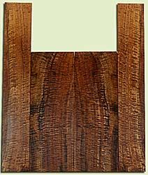 """WAUS42251 - Claro Walnut, Baritone or Tenor Ukulele Back & Side Set, Salvaged from Commercial Grove, Excellent Color& Astounding Figure, Eco-FriendlyUkulele Wood, 2 panels each 0.17"""" x 5.625"""" X 15.375"""", S2S, and 2 panels each 0.16"""" x 3.5"""" X 21.625"""", S2S"""
