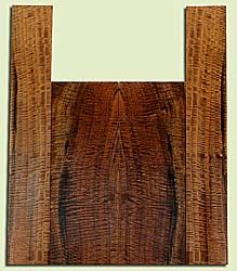 """WAUS42253 - Claro Walnut, Baritone or Tenor or Tenor Ukulele Back & Side Set, Salvaged from Commercial Grove, Excellent Color& Astounding Figure, Eco-FriendlyUkulele Wood, 2 panels each 0.18"""" x 5.5"""" X 15.25"""", S2S, and 2 panels each 0.17"""" x 3.5"""" X 21.5"""","""