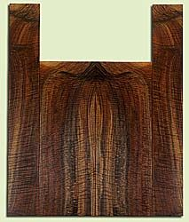 """WAUS42255 - Claro Walnut, Baritone or Tenor Ukulele Back & Side Set, Salvaged from Commercial Grove, Excellent Color& Astounding Figure, Eco-FriendlyUkulele Wood, 2 panels each 0.18"""" x 5.75"""" X 16"""", S2S, and 2 panels each 0.18"""" x 3.25"""" X 22.125"""", S2S"""