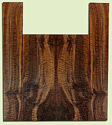"""WAUS42258 - Claro Walnut, Baritone or Tenor Ukulele Back & Side Set, Salvaged from Commercial Grove, Excellent Color& Astounding Figure, Eco-FriendlyUkulele Wood, Note:  Bark inclusion, 2 panels each 0.18"""" x 5.875"""" X 16"""", S2S, and 2 panels each 0.18"""" x"""