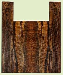 """WAUS42261 - Claro Walnut, Baritone or Tenor Ukulele Back & Side Set, Salvaged from Commercial Grove, Excellent Color& Astounding Figure, Eco-FriendlyUkulele Wood, Note:  Checks outside of layout, 2 panels each 0.18"""" x 5.375"""" X 15.625"""", S2S, and 2 panels"""